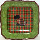 222 Fifth Christmas Scotty Argyle Salad Plates - 11 Available - New -