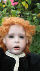 American Artist Collection DOLL Kais Janis Berard Mohair wig carrot top  Bisque