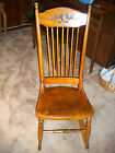 Small Antique  Rocking Chair, solid oak, poyurethane finish PICK UP ONLY PLEASE!