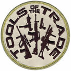 Guns Tools of the Trade - Tan with Olive Drab Border Morale Patch Velcro Hooks