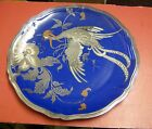 Art Deco  Rosenthal Germany Chippendale large china charger Blue / silver Bird