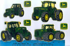 JOHN DEERE FABRIC wall stickers 8 pcs tractors peel  stick HANDMADE border
