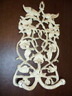 IRON FLOWER HOOK DOUBLE HANGERS OLD HANGER SHABBY ART & CRAFTS CHIC METAL IRONS