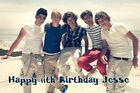 One Direction Beach Premium Frosting Sheet Cake Topper FREE Personalization