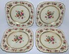 Set 4 Royal Ivory 508 China Windsor Bohemia Square Salad Plates Czechoslovakia