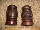 Hand carved nice heavy wooden wood Salt and Pepper Shakers?