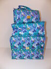 Joy Mangano Biggest & Best Better Beauty Case Set Ever-WaterColor Floral-NEW