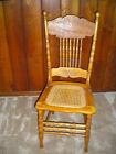 Antique Chair with Rattan-Caned Seat, polyurethane finish - PICK UP ONLY PLEASE!