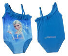 Disney Frozen Princess Elsa Girls 1-Piece Blue Bathing Suit Beach Swim Wear 6-7Y