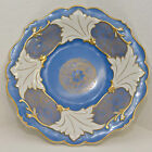 VINTAGE WEIMAR GERMANY PORCELAIN CABINET PLATE ORNATE RELIEF BLUE WHITE GOLD