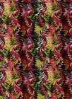 Fabric #1848, Pink Green Feather Abstract, Henry Glass, End of Bolt at 34 inches