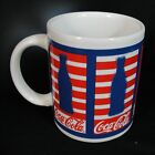 Coca Cola Patriotic Design Mug Coffee Tea Cup Marketed by Gibson Red White Blue