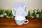 Herend Village Pottery Lattice Hill Cups & Saucers