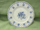 Lovely RARE vintage GRINDLEY CreamPetal Blue & White Tewkesbury England plate