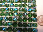 144 PIECES VINTAGE SWAROVSKI BEADS 5101 8MM GREEN TURMALINE AB FACTORY PACKAGE