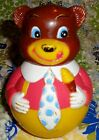 Vintage Kiddie Bear Roly-Poly Chime Toy - The First Years 1972