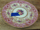 Royal Worcester England Antique Z227 Z 227 Red Gold Roses Bread Plate Scalloped
