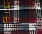 Quilting Soft Snuggle Flannel 25 wide strips 10 Navy Mauve Plaid Rag Quilt