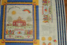School Days Memory Board & wall Hanging fabric panel Teachers