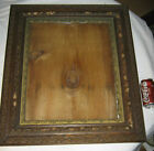 ANTIQUE PRIMITIVE AMERICAN COUNTRY HARD WOOD GLASS PICTURE PHOTO FOLK ART FRAME