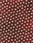 Tan Stars on Red Stars  Stripes Quilt Fabric Northcott Stonehenge 39197