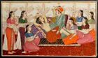 Fine antique Persian Indian Royal erotic miniature painting Jaipur school 1820