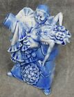 Uncommon Schafer & Vater Blue & White Flask~Clown holding a drunk Woman