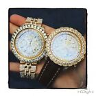 Mens Diamond Breitling Bentley Fully Iced 18K Gold Watch 42924 25.00ct