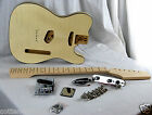 VINTAGE TELE STYLE ELECTRIC GUITAR KIT WITH GORGEOUS MAPLE FLAMED BODY