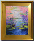 JOSE TRUJILLO WATER LILIES FRAMED IMPRESSIONIST PLEIN AIR OIL PAINTING FINE ART