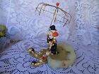 Authentic Clown Sculpture  By  Ron Lee Signed  Dated 1983 Sitting With Umbrella