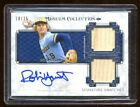 ROBIN YOUNT AUTO DUAL GAME USED BAT #D 25 TOPPS MUSEUM COLLECTION RARE HOF SS