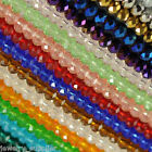 Lots 50 100X Czech Rondelle Crystal Glass Loose Charm Spacer Faceted Beads 4 8mm