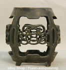 Old China Chinese Dynasty Palace Bronze Statue Round Tablet High Stool Chair