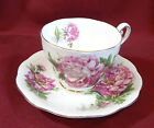 Amethyst Royal Standard Fine Bone China Tea Cup Saucer England Gold Trim Peony