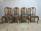 8 Ethan Allen Country French Legacy Carved Dining Room Side Chairs Set