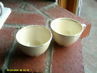 Pair Porcelain Ceramic Cream Colored With Gold Trim Tea Cups (No Saucers)