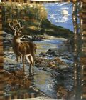 RealTree Deer Stream in Moonlight Fleece Panel Fabric