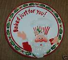 Fitz & Floyd Baked Just For You! Santa Canape Plate Christmas Confections Cute!