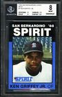 KEN GRIFFEY JR SAN BERNARDINO SPIRIT RARE 1988 BEST BGS-8 NM MT ROOKIE RC CARD#1