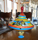 Ohio Art Co. Large Top Cars Spinning Top Tin Toy Bryan Ohio