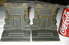 H BRADLEY HUBBARD ART DECO EGYPTIAN REVIVAL CAST IRON STATUE BOOKENDS