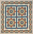 Red Rooster Maddie Quilt Fabric Kit by Kathy Brown - Brown Colorway Only One !!