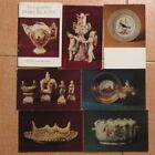 Lot 15 Russian POSTCARDS Old Porcelain Figurine SET Art Antique Tea Pot Cup Bowl