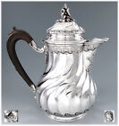 Majestic Antique French Sterling Silver Louis XV Chocolate Pot 1155 grams