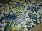 WAVERLY DRESS IMPERIAL FABRIC YELLOW BLUE FLORAL 30  X 40 (1.11 YARDS)