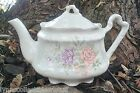 Porcelain Teapot White Floral ARTHUR WOOD & SONS #6257 Made in England