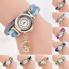 Women Casual Crystal Band Wave Bracelet Quartz Dial Analog Wrap Girl Wrist Watch