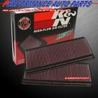 TWO K&N 33-2181 PANEL AIR INTAKE FILTERS MERCEDES C CLK E GL ML R S SL-CLASS
