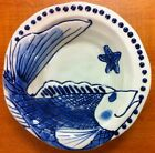 Blue Sky Ceramic Magic Sea Cobalt Blue Fish Soup Bowls - Set Of 4 - New